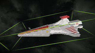 Weaponized Venator Class Cruiser