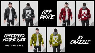 Off White Checkered Hoodie Pack