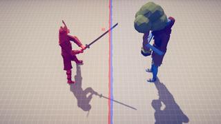 Samurai giant Vs Three giant