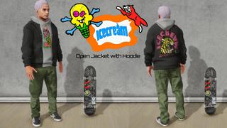 Icecream- Open Jacket With Hoodie