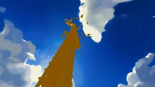Shattering of Dummy Danny's tower (Cutscene)