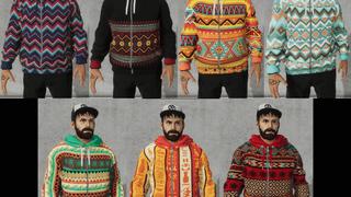 Tribal/Knitted Hoodie