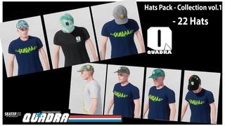 Quadra Skateshop - Hats Pack collection