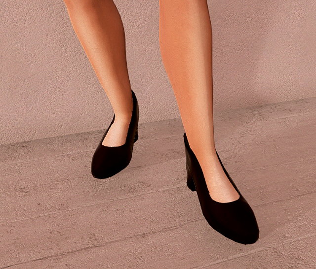 Thick Heeled Shoes Template For Sinespace Modio