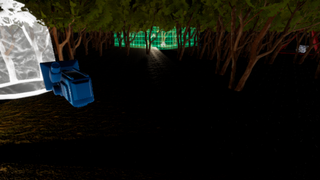 scary comping forest