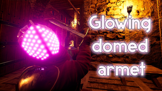 Glowing domed armet