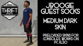 Thrift CONSOLE - JBoogie Socks - Medium Dark Skin