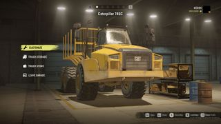 CAT 745 carries a lot of cargo
