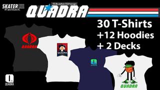 Quadra Skateshop - T-shirt Pack vol 1