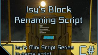 Isy's Block Renaming Script