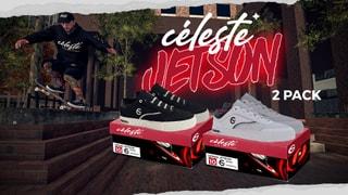 Céleste 'JETSON' 2 PACK - BLK/WHT & WHT/BLK