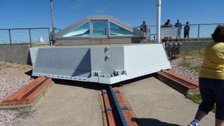 Silo Bunker slide door mechanism