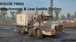 KOLOB 74941 Attachments & Low Saddle Trailers