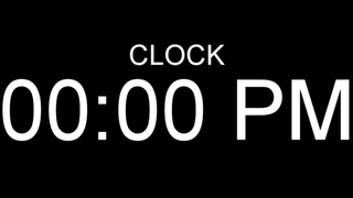 literally just a clock (12 hour format)