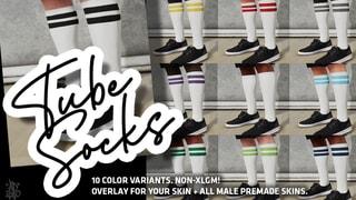 Tube Socks - 10x Variants + Premade skins