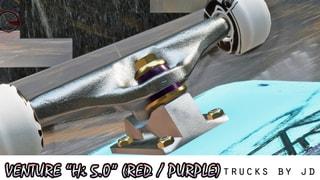 "Venture ""Hi 5.0"" (Red / Purple) Trucks"