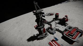 R.O.S moon base under ground base repair