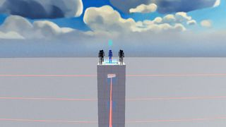 Laser tower