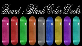 Board Blank Color Decks 9 Decks