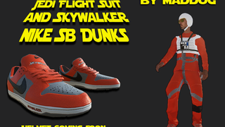 Star Wars Jedi Flightsuit & Skywalker Nike Dunks
