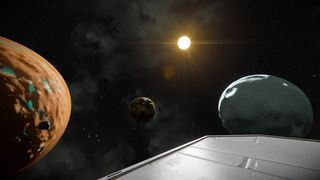 Super earth system