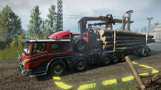 jJj's Azov-Freightliner rear crane and logging