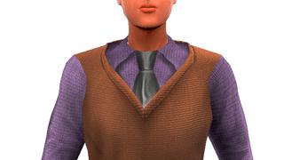 Shirt with Woolen Vest