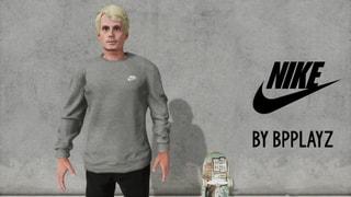 Grey Nike Crewneck By BpPlayz
