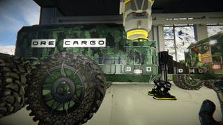 Small Grid Ore Cargo trailer