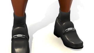 Black Dress Shoes with Buckle