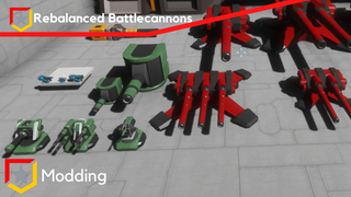 Re-balanced Battlecannons and Turrets