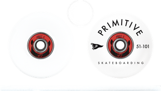 Used skull deck, Primitive wheels with bearing