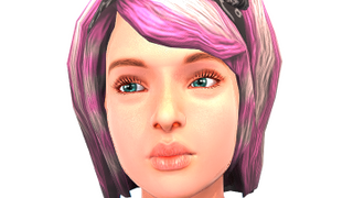 Striped Hair with Bow