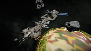 Rusty Station adrift in the void