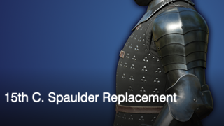 15th c. Spaulder Replacement