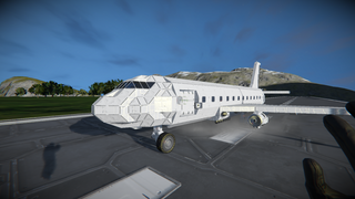 Boeing 737-100 series white