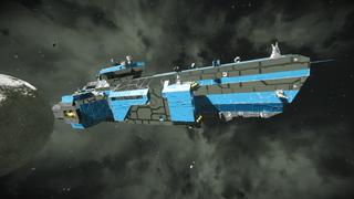 Little Boy - Warship & big freighter
