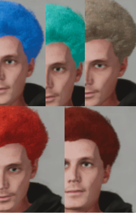 More Hair Colors #1 (Male) (All Hair Types) Mod For Skater