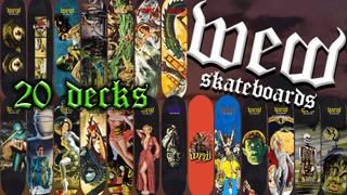 WEW skateboards 50s movies series