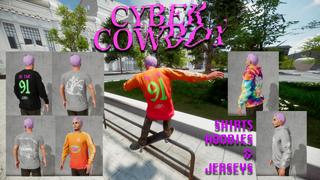 Cyber Cowboy Jersey and T-Shirts