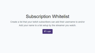Twitch Whitelist