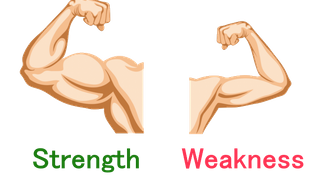 More weaknesses & strengths