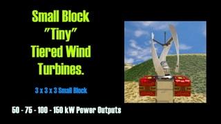 """Small Block """"Tiny"""" Tiered Wind Turbines ( 3x3x3 )"""