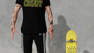Camisaeta skate energia skate and create