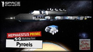 Pyroeis Interplanetary Colonisation Ship with Mars