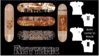 Rhythmic Skateboards Punk Deck and Tee Pack