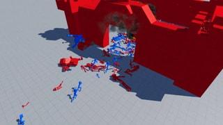 Red VS Blue Ragdoll War!