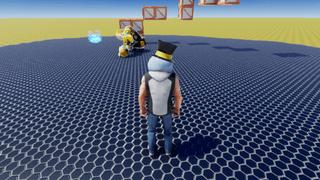 1vs1 with a robot boi