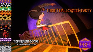 Thrift Socks Halloween party