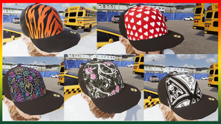 5 Black Snapback Trucker Hats